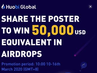 Huobi Exchange Airdrop USD - Share 50,000 USD Free