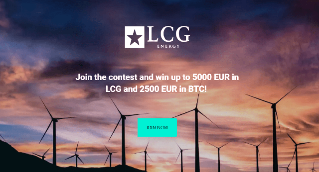 LCG Energy Bounty New Round - Earn Up To 500 EUR In Bitcoin And 1,000 EUR In LCG Tokens