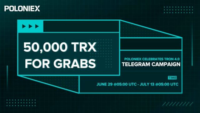 TRX Airdrop On Poloniex Exchange - Giveaway 50,000 TRX Coins Free