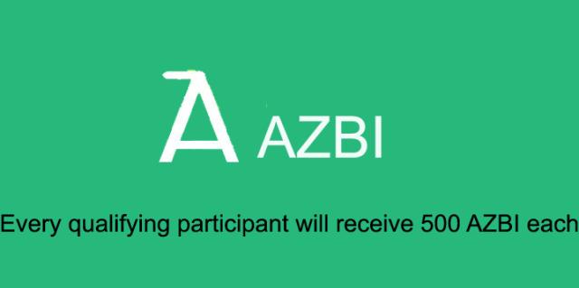 AZBI Airdrop - Receive 500 AZBI Tokens Free