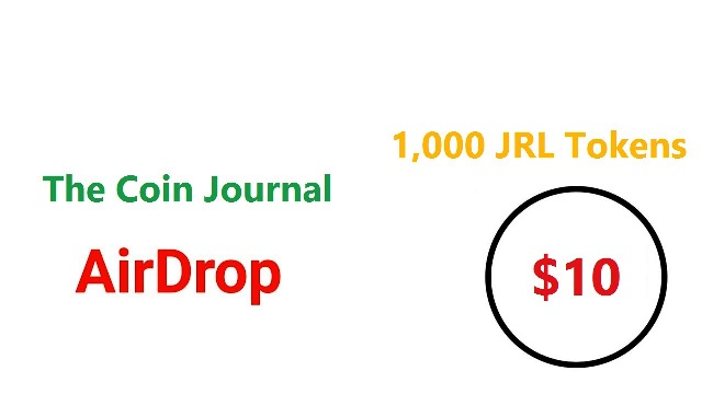 The Coin Journal Airdrop - Get $10 Of JRL Tokens Free