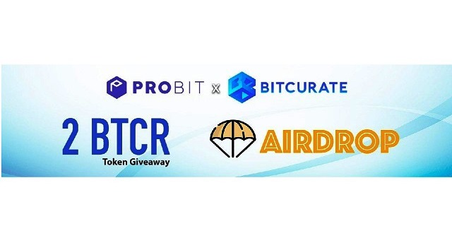 Bitcurate Airdrop On ProBit - Receive 2 BTCR Tokens Free