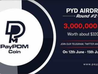 PayPDM Airdrop Round 2 - Get $22.5 Of PYD Tokens Free