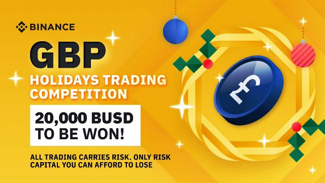 GBP Trading Competition On Binance - Win $20,000 BUSD In Prizes