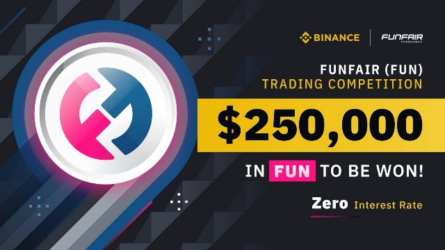 FUN Trading Competition On Binance - Win $250,000 In FUN Tokens