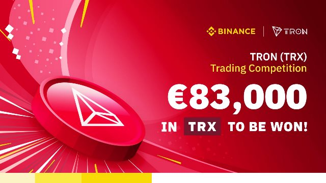 TRX Trading Competition On Binance - 83,000 EUR In TRX To Be Won