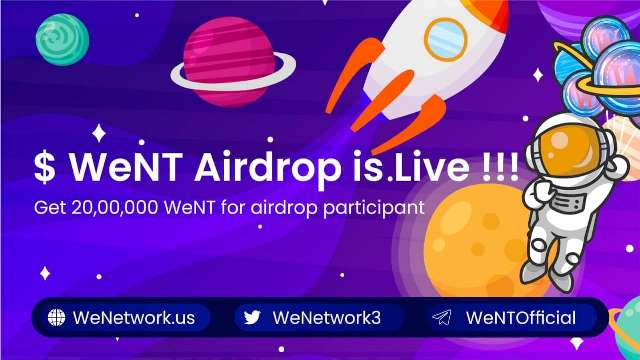 WeNetwork Crypto Airdrop Campaign - Get Free 1,500 WeNT Tokens