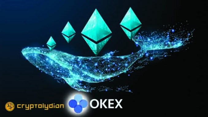 Ethereum Whale Transfers 30,000 ETH Unknown Wallet to OKEx