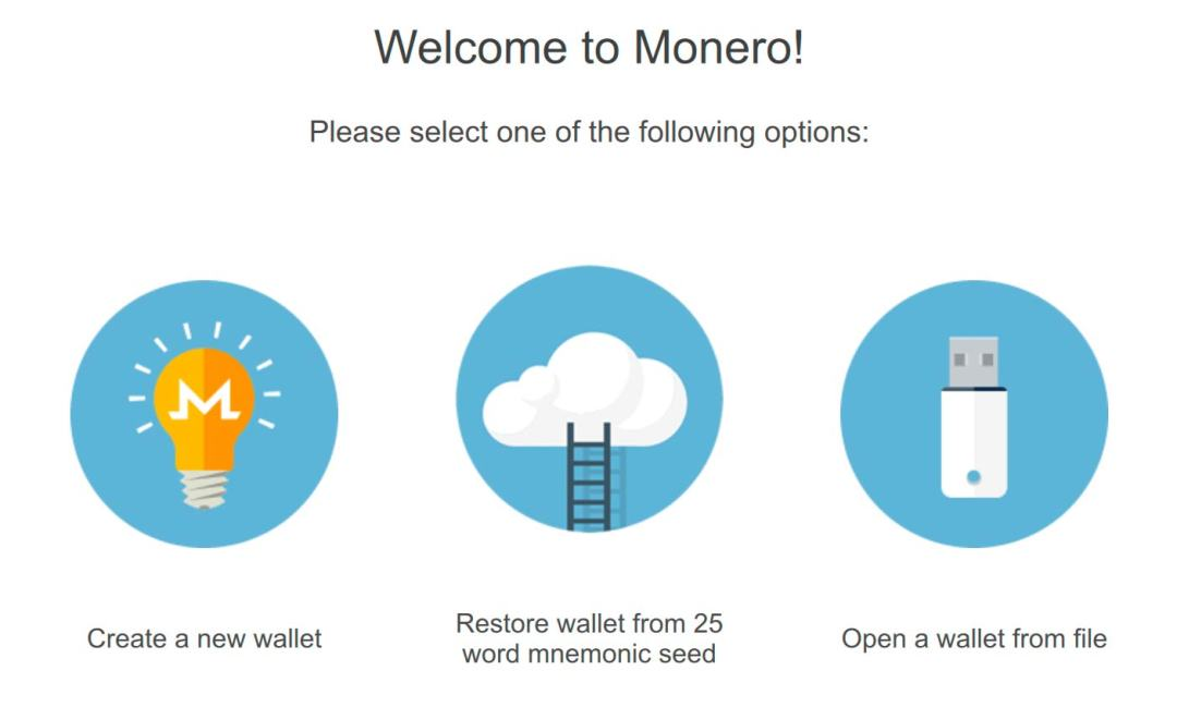 محفظة مونيرو XMR من نوع GUI wallet،محفظة مونيرو،Monero GUI wallet