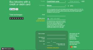 شراء البيتكوين بإستخدام بطاقات الإئتمان