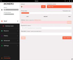محفظة مونيرو XMR من نوع  GUI wallet،محفظة مونيرو،Monero GUI wallet