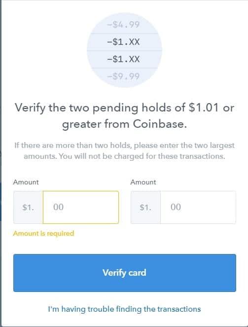 Coinbase guide, verify transaction