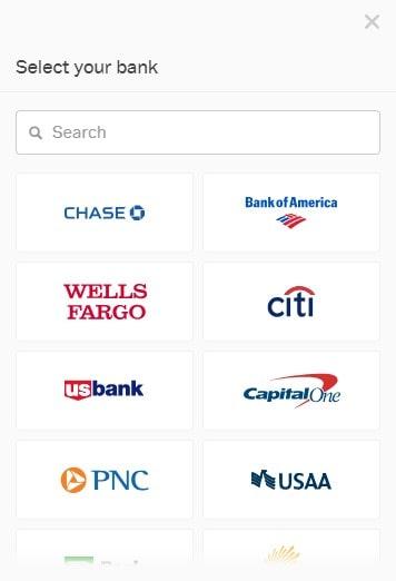 Coinbase guide, choose bank