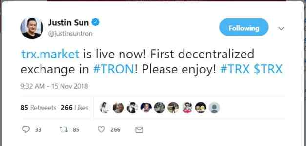 tron exchange