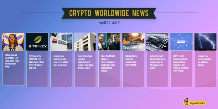 On Which Exchange Bitcoin Plummeted $1000? Crypto Weekly Update: BitFinex FUD, BMW & Jaguar Adoption