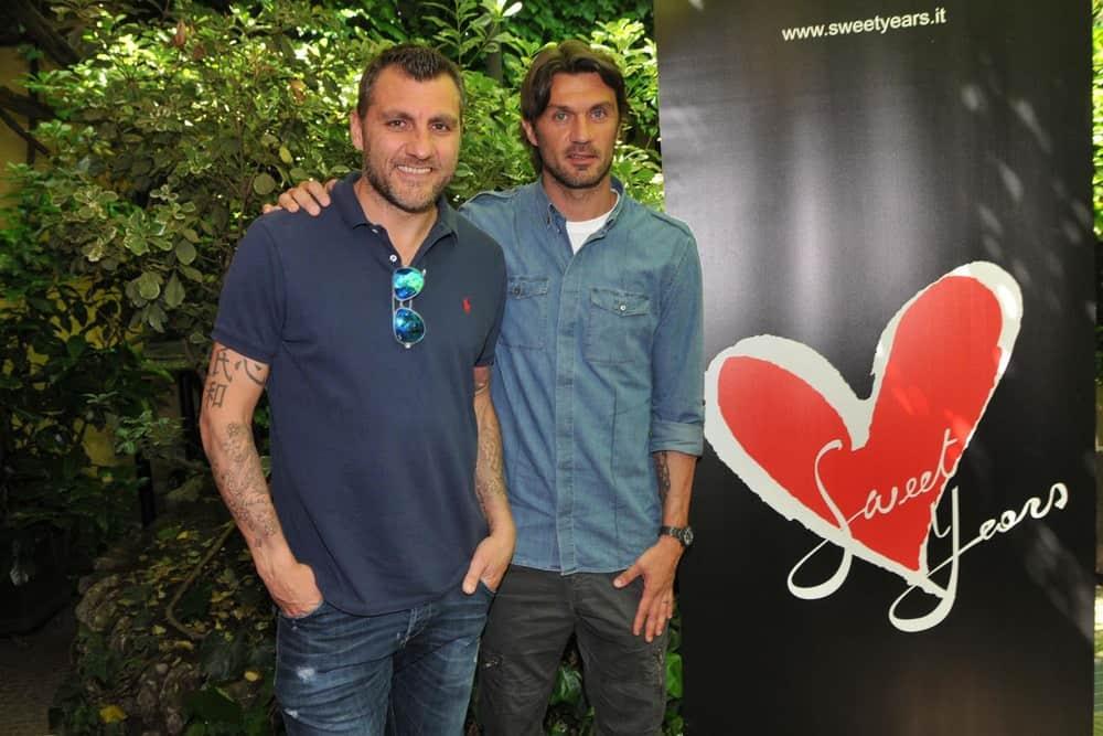Christian Vieri And Paolo Maldini. Source: Mauro Tarzariol