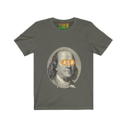 HODL Bitcoin / Ben Franklin Edition Jersey T-Shirt