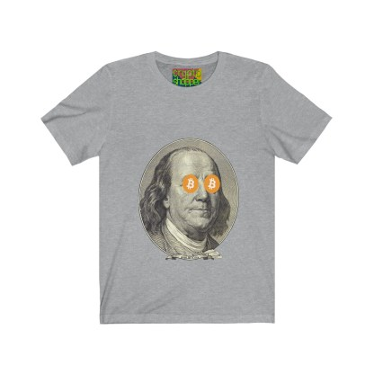 HODL Bitcoin / Ben Franklin Edition Jersey T-Shirt