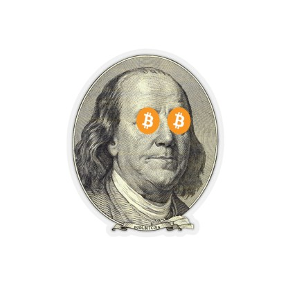 Bitcoin Ben Franklin Stickers