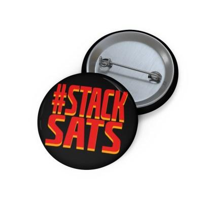 Stack Sats Bitcoin Pin Button
