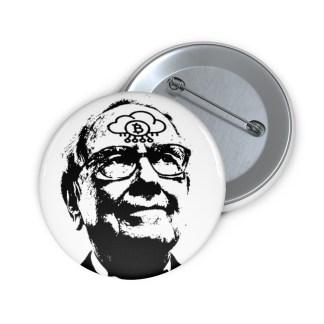 Warren Buffett Bitcoin Pin