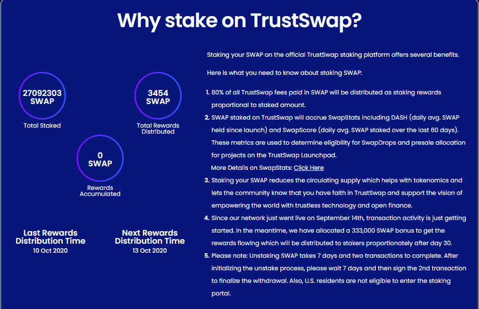 Why Stake on TrustSwap