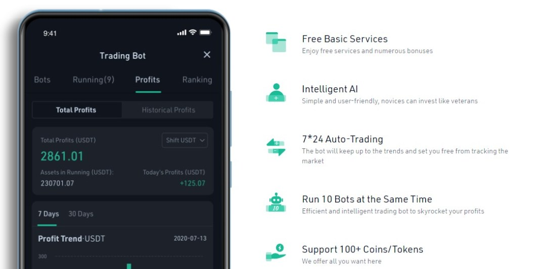 KuCoin trading bot features