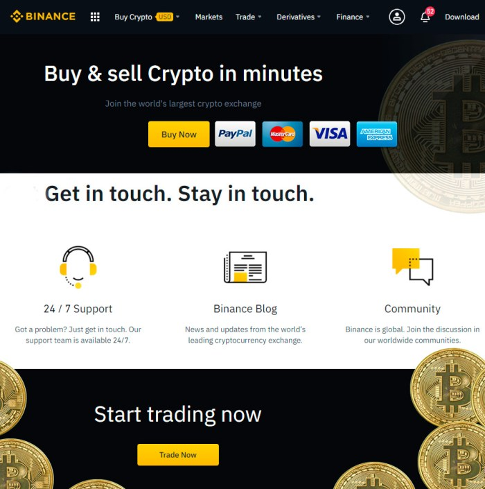 Buy Binance Coin with visa