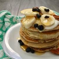 Hotcakes sanos de avena (tortitas americanas de avena, panqueques de avena)