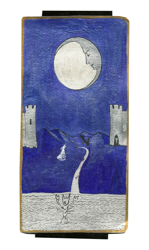 Dyer Tarot the Moon Cancer by Crystal Dyer Tarot Cards Hand painted
