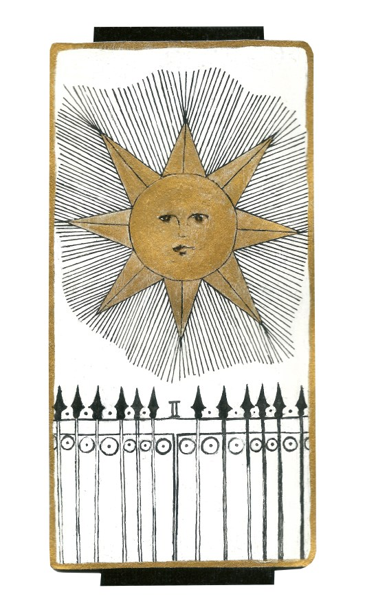 Dyer Tarot the Sun Gemini by Crystal Dyer Tarot Cards Hand painted