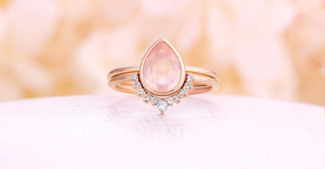rose quartz engagement ring