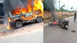 IPOB-Sit-At-Home: Gunmen Set Commercial Bus Ablaze In Enugu