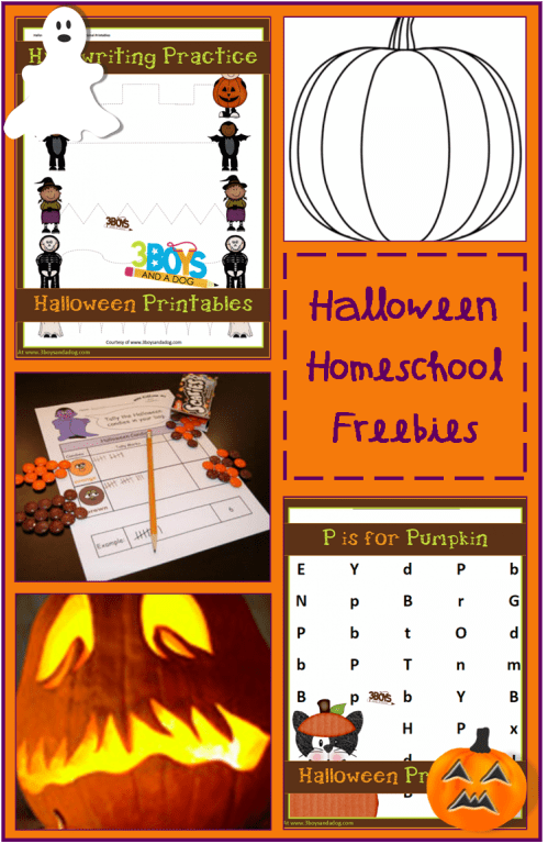 small resolution of Halloween Homeschooling Freebies by subject!