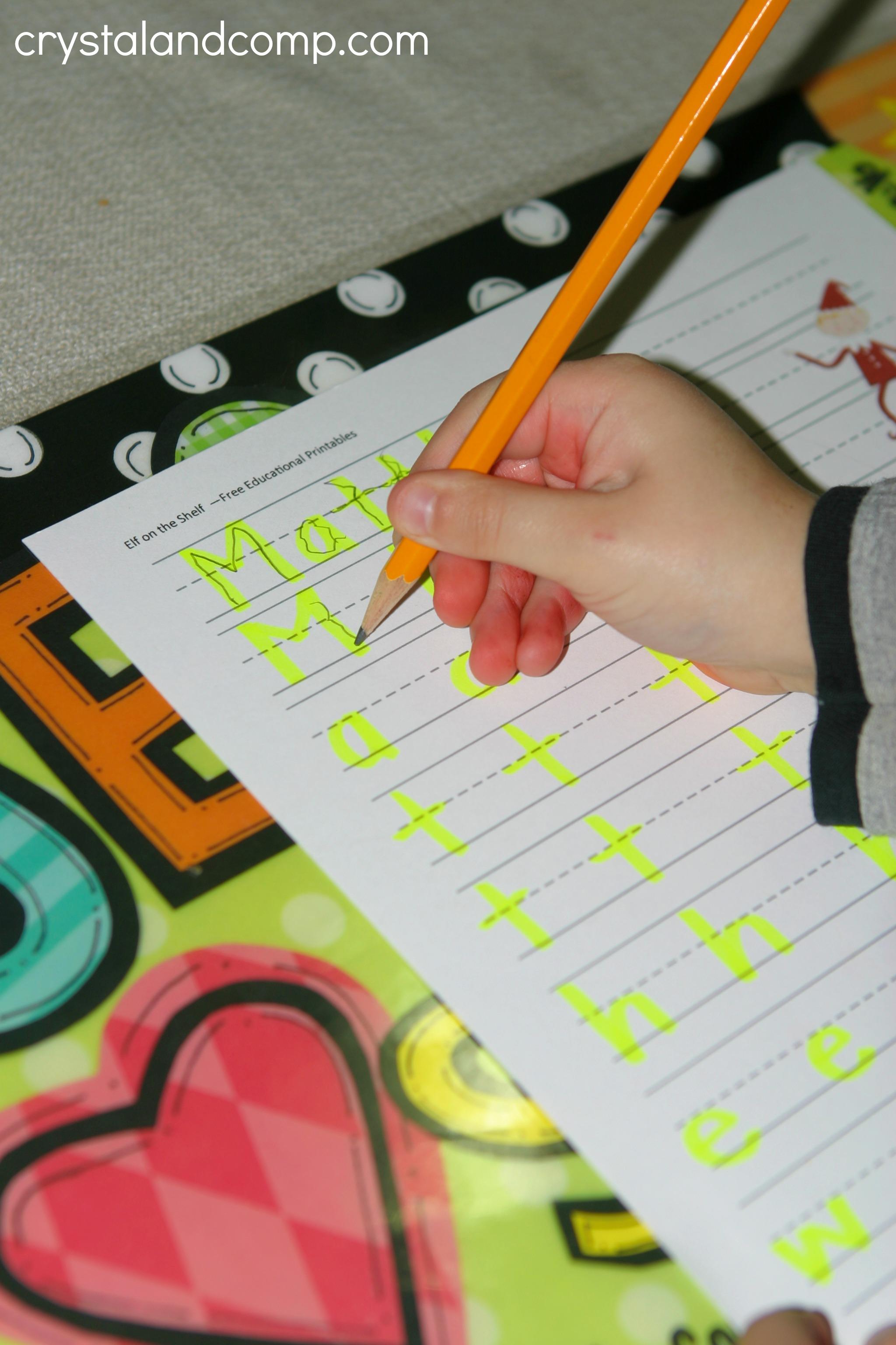 Name Practice For Preschoolers Free Printable