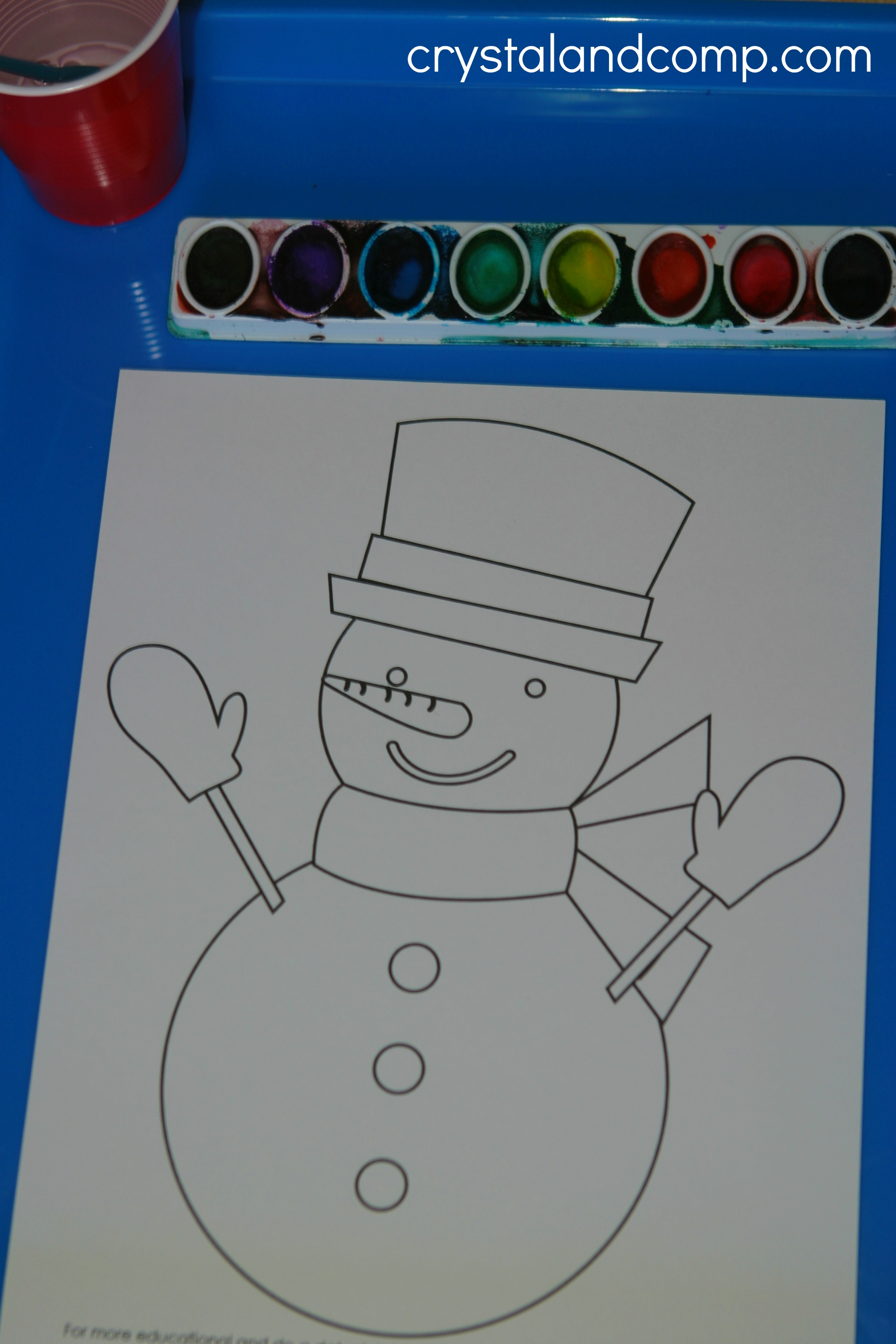 Snowman Preschool Do A Dot Printables Images