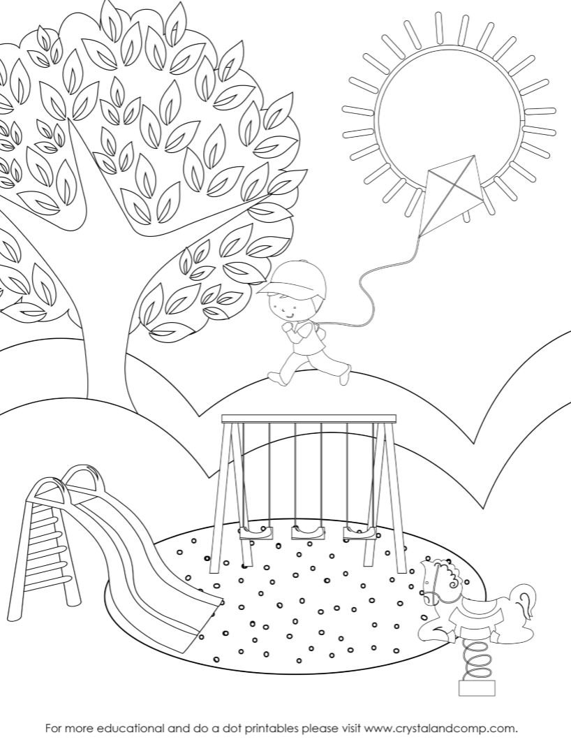Preschool Do a Dot Printables: Spring