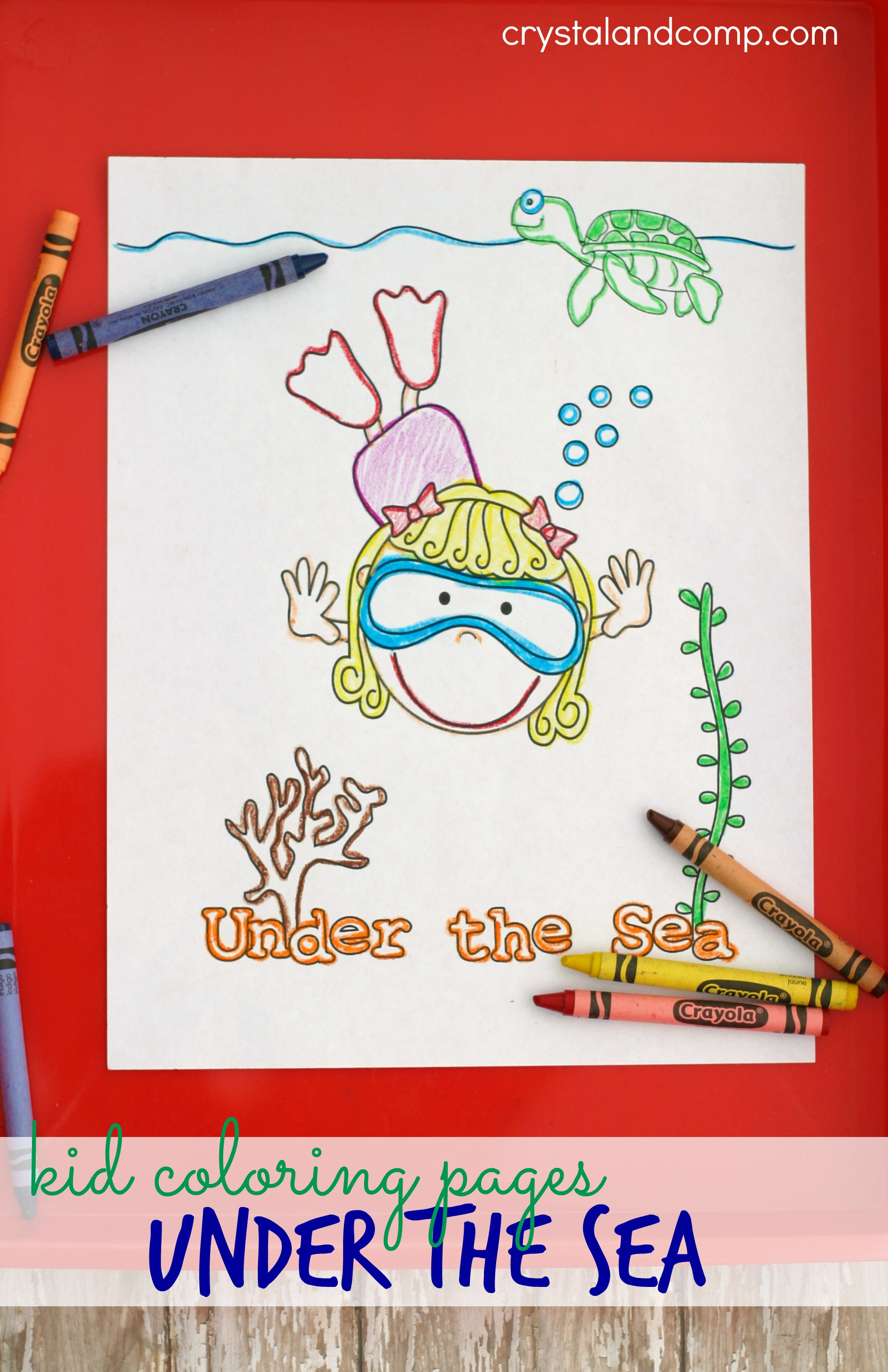 Kid Color Pages Ocean Theme