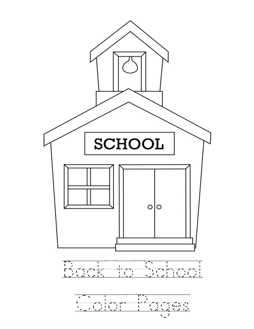 Kid Color Pages: Back to School