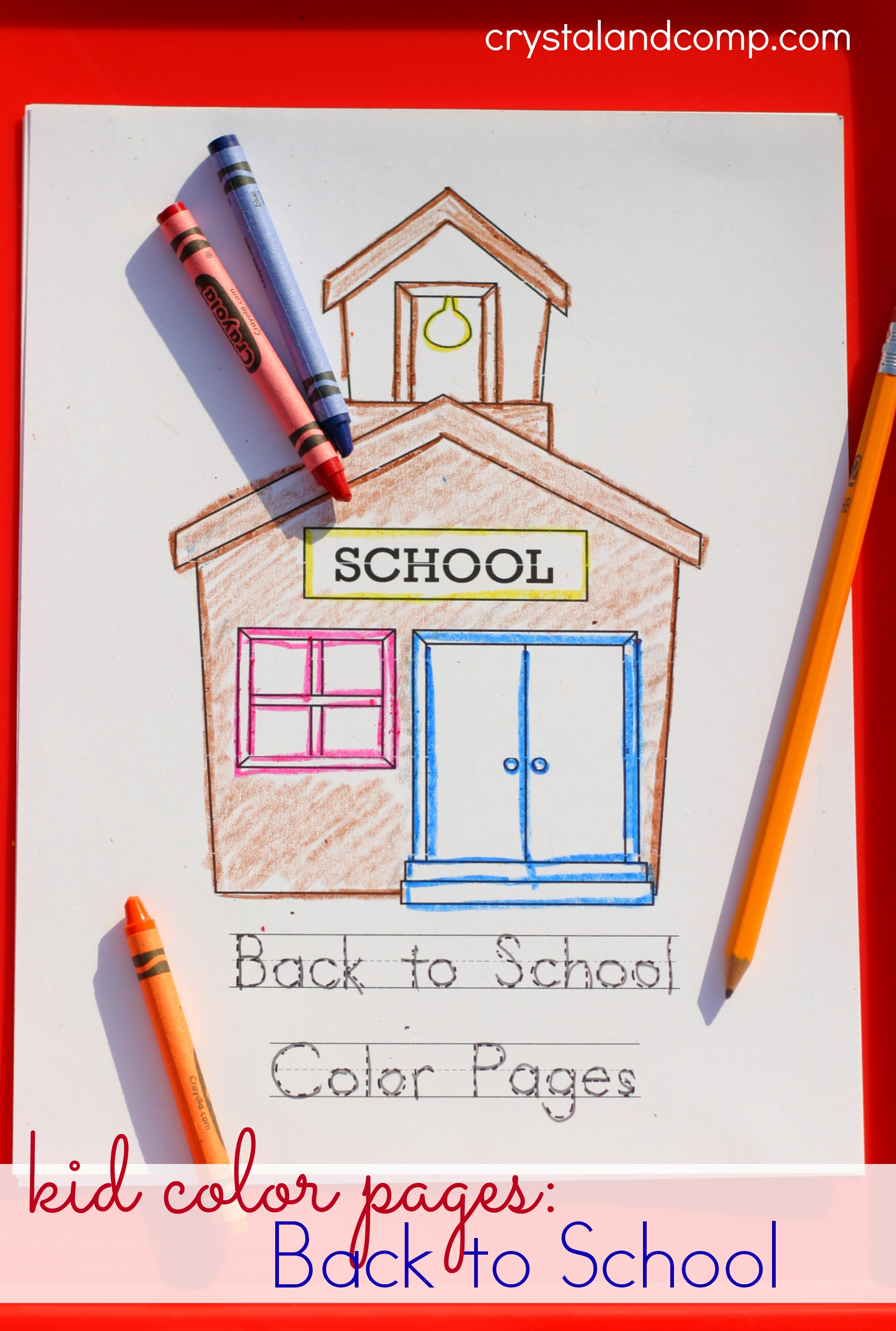 Kid Color Pages Back To School