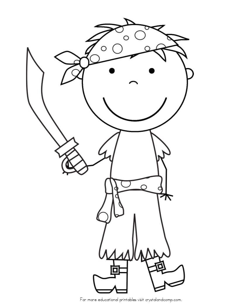 Pirate Face Coloring Page