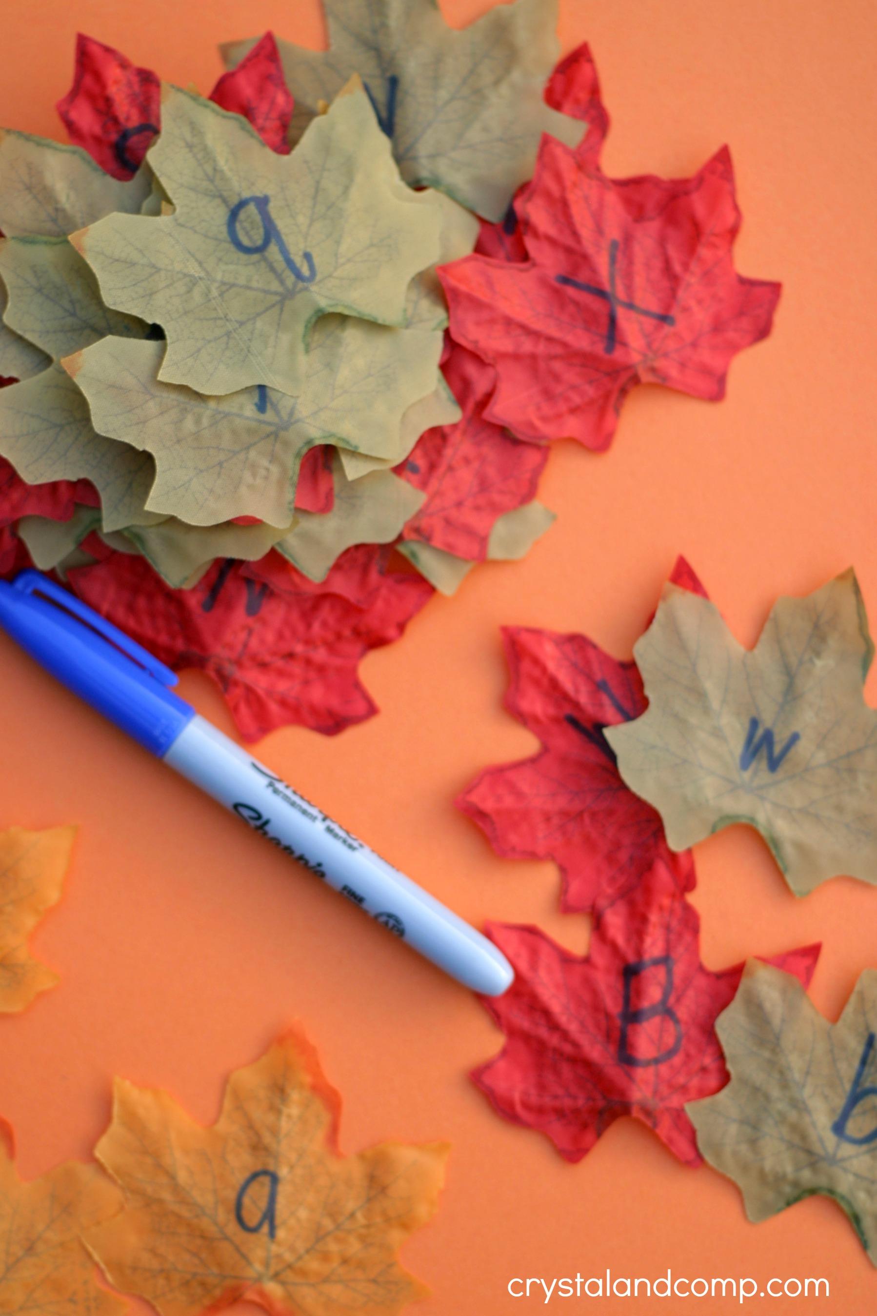 Alphabet Leaf Activities For Kids