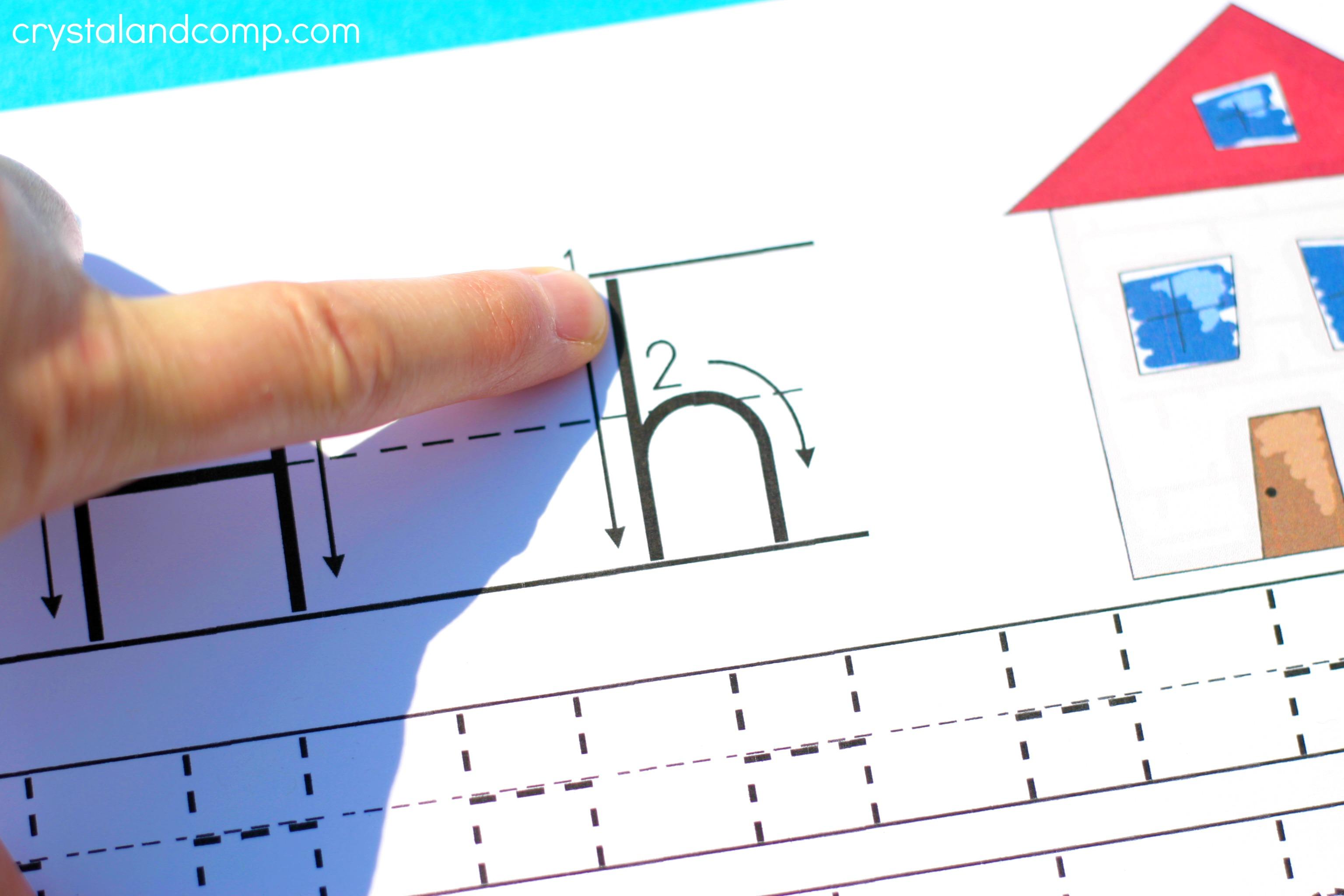 Handwriting Practice For Preschool H