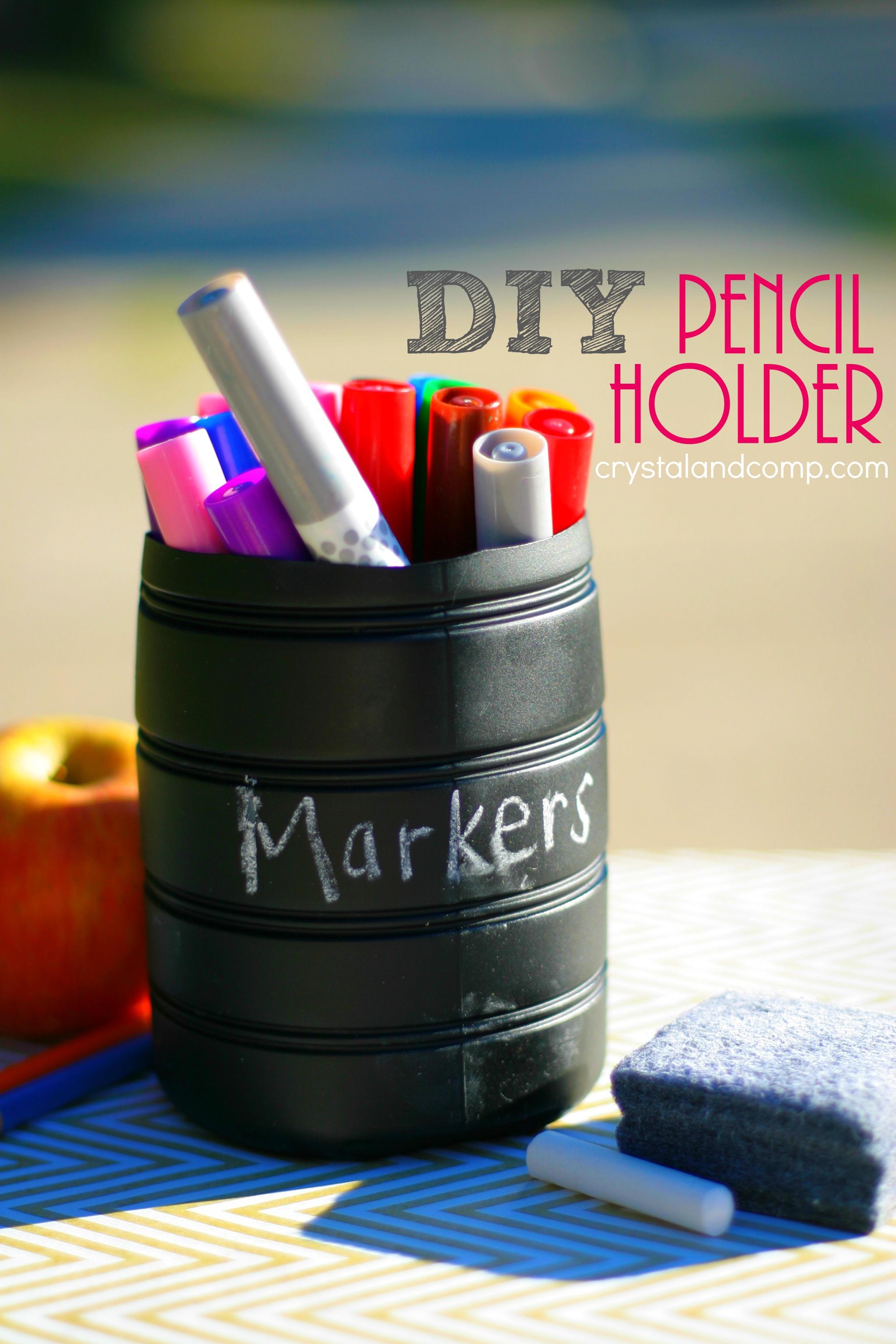 Diy Chalk Paint Pencil Holder