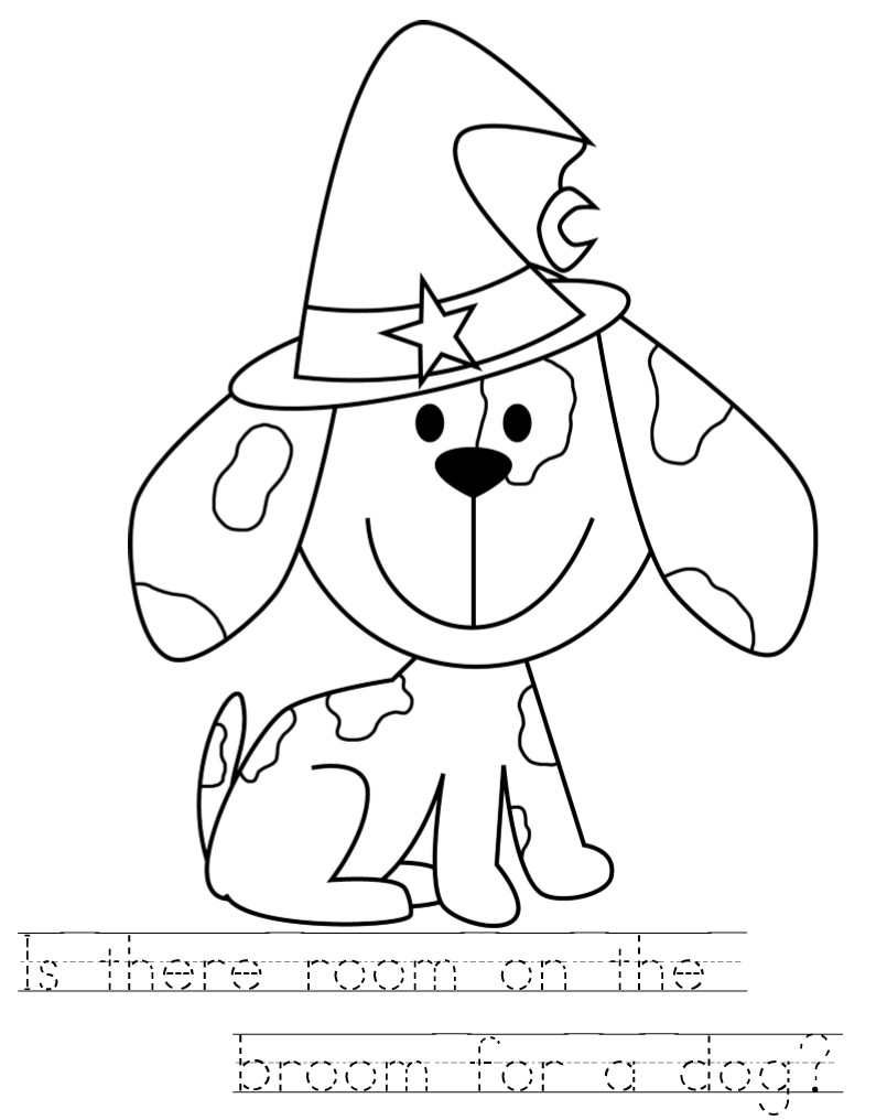 Room On The Broom Coloring Pages Coloring Pages