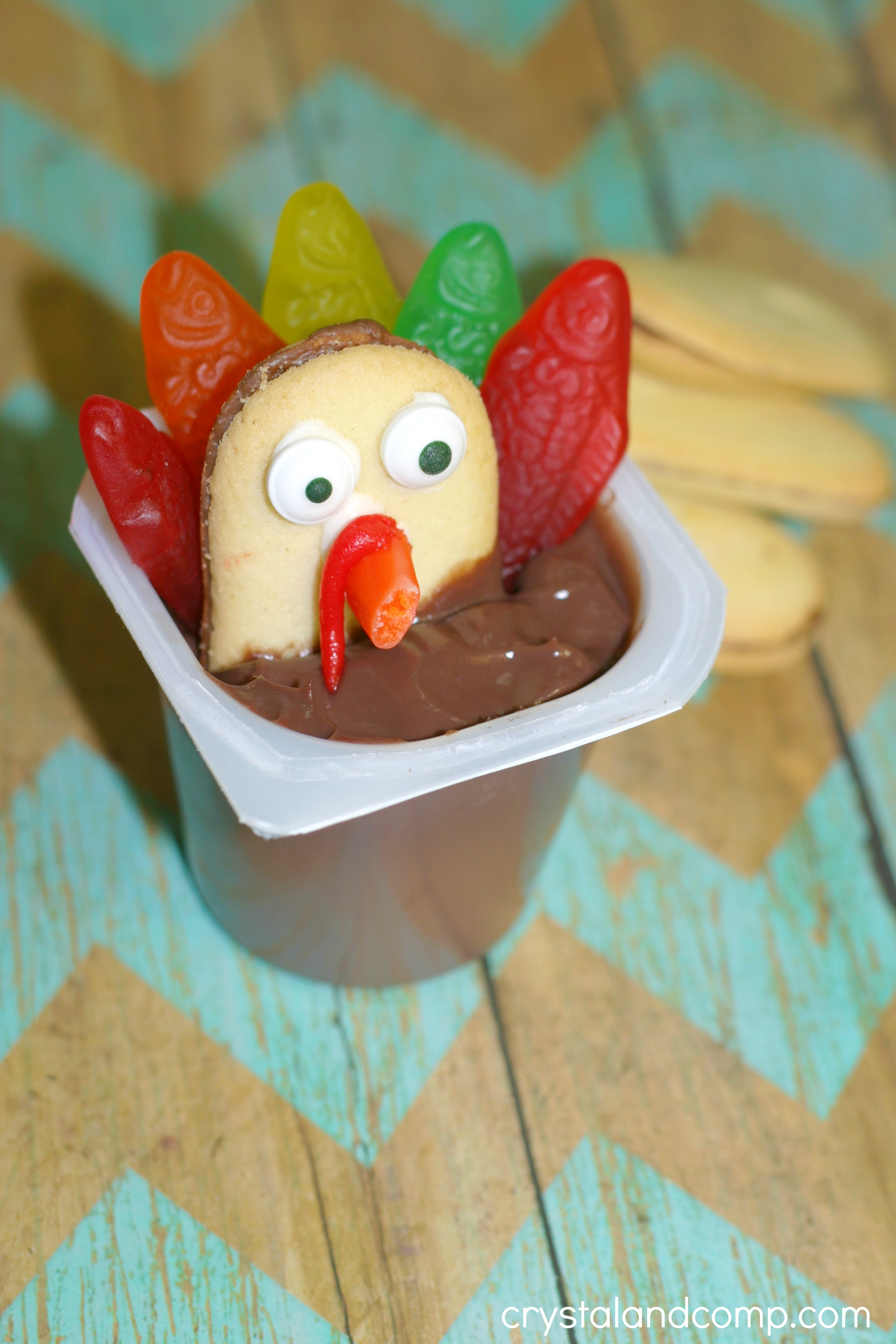 Thanksgiving Turkey Cookies Using Pudding Cups