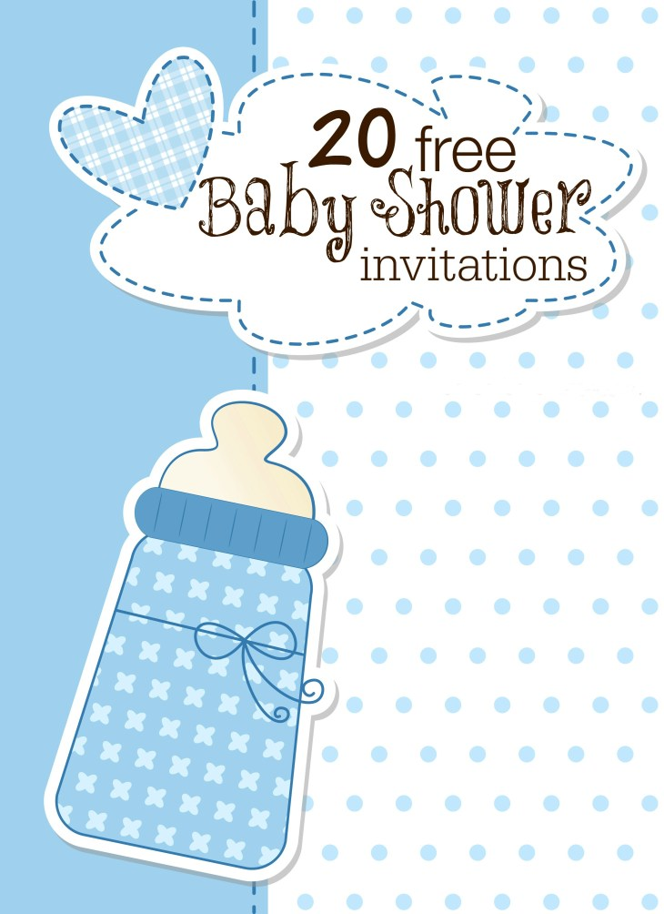 Free Template For Baby Shower Invitation