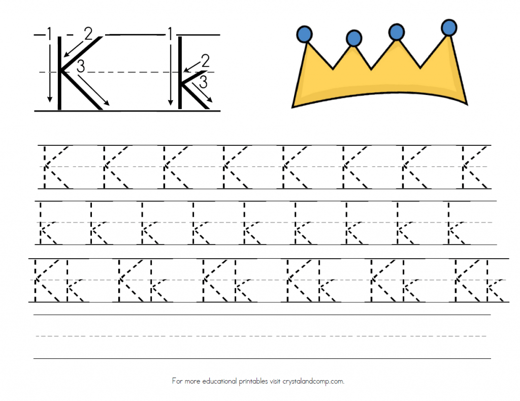 K Is For King Handwriting Practice Printable
