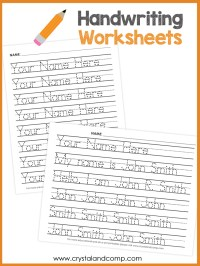 Tracing Name Worksheet