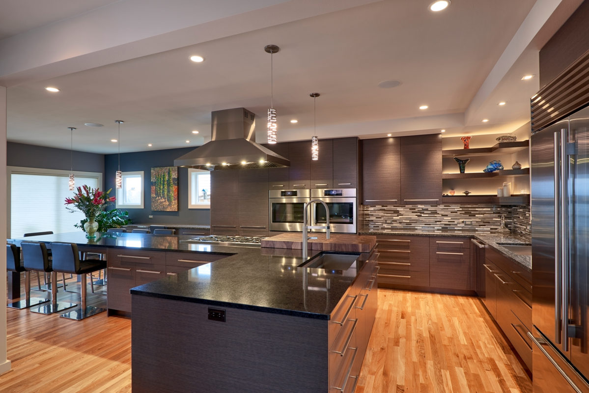 Contemporary Gray Oak Cabinets  Crystal Cabinets